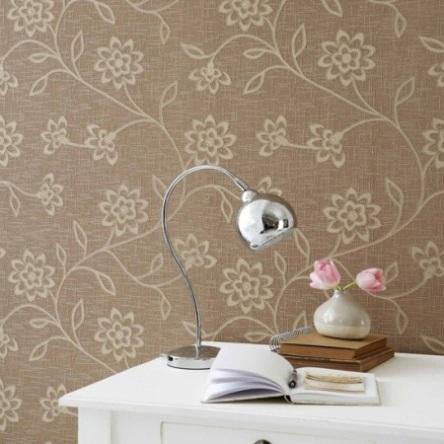 üzeri kabartmalı çiçek desenli şık duvar kağıdı modeli