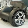 araba koltuğu şeklinde gri çılgın koltuk modeli
