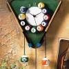 bilardo masası figürlü farklı tasarım duvar saati modeli