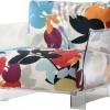 cam ayaklı renkli çiçek desenli dekoratif koltuk modeli