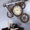 mekanik dişli figürlü çılgın duvar saati modeli