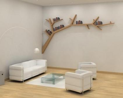 ağaç dalı şeklinde modern dekoratif raf modeli