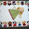 bebek desenli örgü bebek battaniyesi modeli