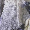 bembeyaz çiçekli örgü bebek battaniye modeli