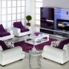 beyaz ve mor renkli modern salon koltuk takımı modeli