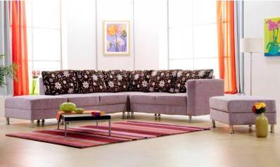 dekoratif yastıklı eflatun l koltuk modeli