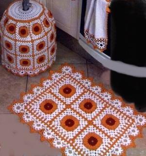 el orgusu turuncu banyo paspas modeli