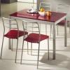 fuşya renkli modern mutfak masa ve sandalye modelleri
