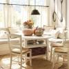 hasır sandalyeli modern şık mutfak masası modeli