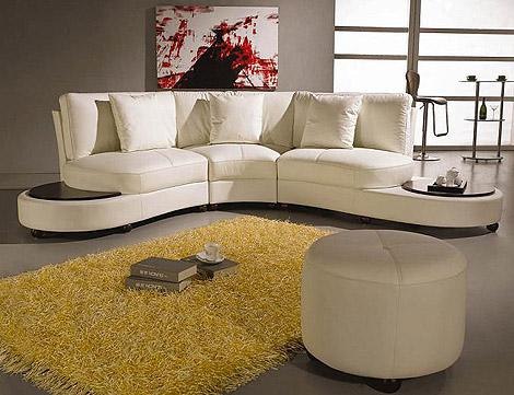 modern beyaz renkli deri köşe koltuk takımı modeli