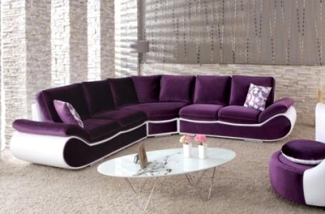 mor beyaz renkli modern l koltuk takımı modeli