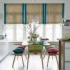 rengarenk minderli modern görünümlü mutfak masası modeli