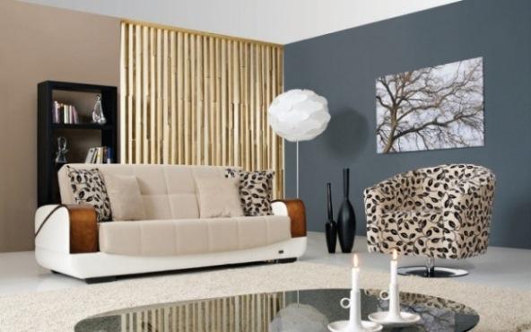 yaprak desenli berjer koltuğu ile modernleştirilmiş salon koltuk modeli