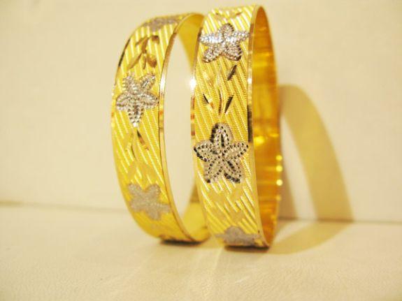 üzeri desenli 22 ayar altın bilezik modelleri