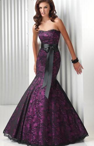 dantelli mor renkli  abiye nişan kıyafeti modeli