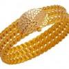 farklı tasarımlı şık altın burma bilezik modeli