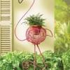 flamingo görünümlü dekoratif saksı modeli