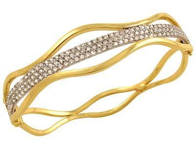 taşlı zarif altın bilezik modeli