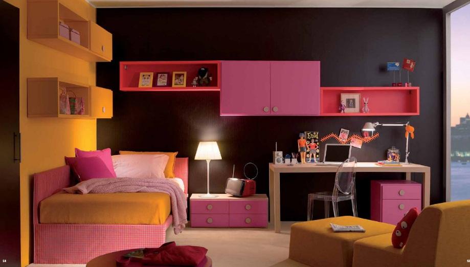 fuşya renkli yeni sezon genç kız odası modeli