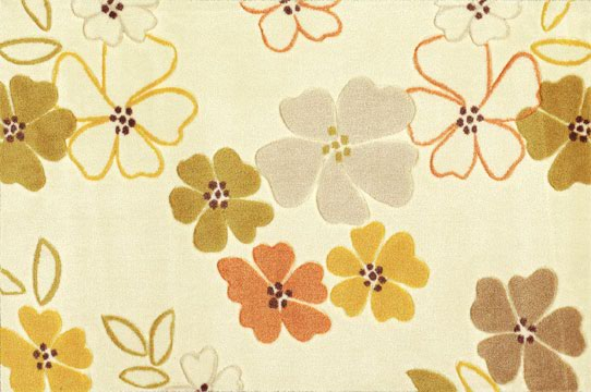 jel tabanlı çiçek desenli saray halı modeli