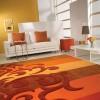 turuncu renkli şık saray halı modeli