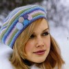 Örgü Bayan Şapka Modeli