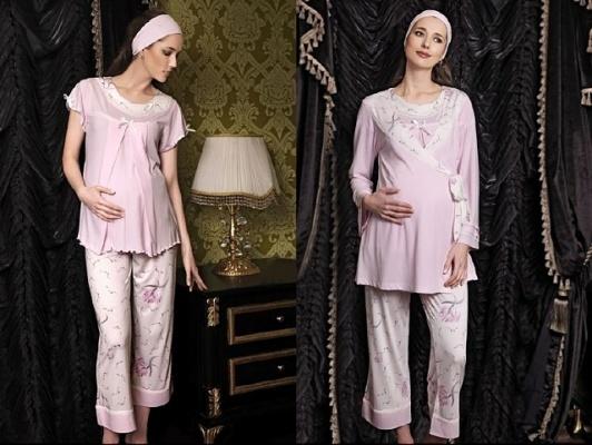 üçlü hamile pijama takımı modeli
