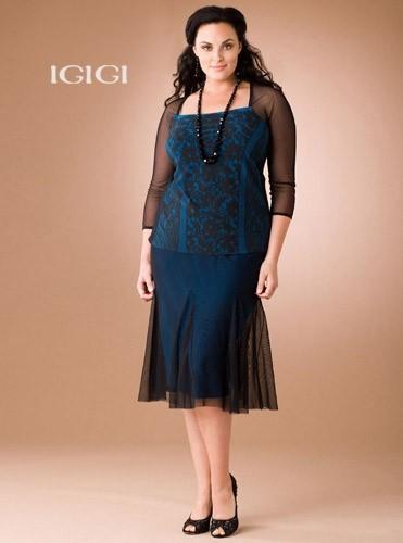 ıgıgı büyük beden elbise mavi tül