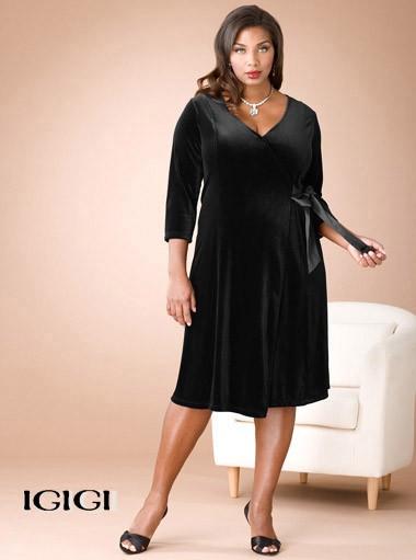 ıgıgı büyük beden siyah elbise