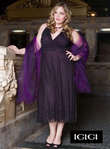 ıgıgı mor abiye büyük beden elbise