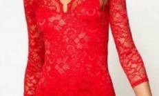2013 Bayan Dantel Elbise Modelleri