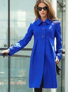 Mavi Yakalı Kaşe Kaban Modeli