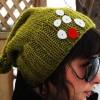 Ponponlu Yeşil Bayan Şapka