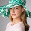 Yeşil Çiçekli Bayan ŞapkA mODELİ