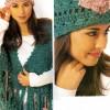 Yeşil Örgülü Bayan Şapka Modeli
