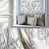 desenli beyaz english home perdeler