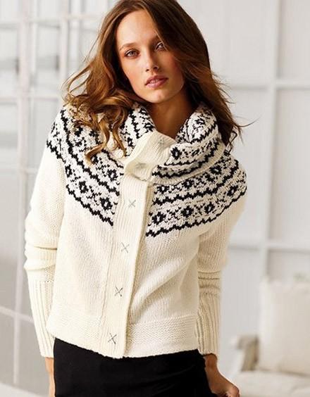 son moda bayan örgü kazak modeli