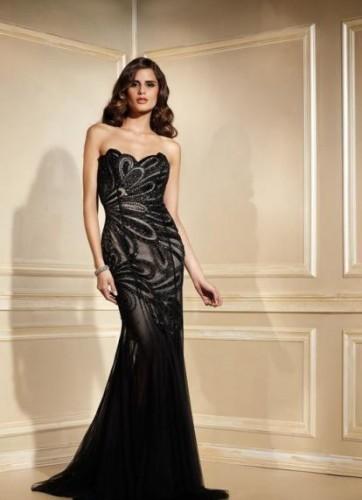 Konu siyah abiye elbise modelleri