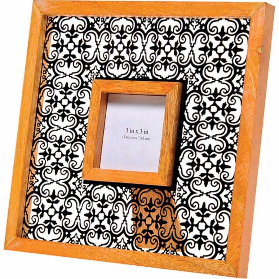 dantel görünümlü dekoratif fotoğraf çerçevesi modeli