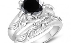 Muhteşem Siyah Elmas Tek Taş Yüzük Modelleri