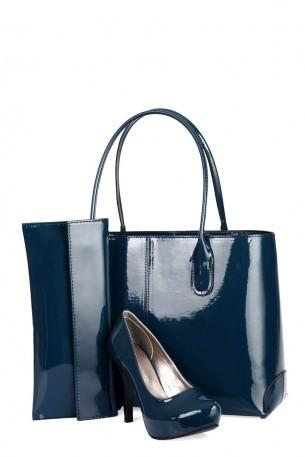 lacivert çanta ayakkabı takımı