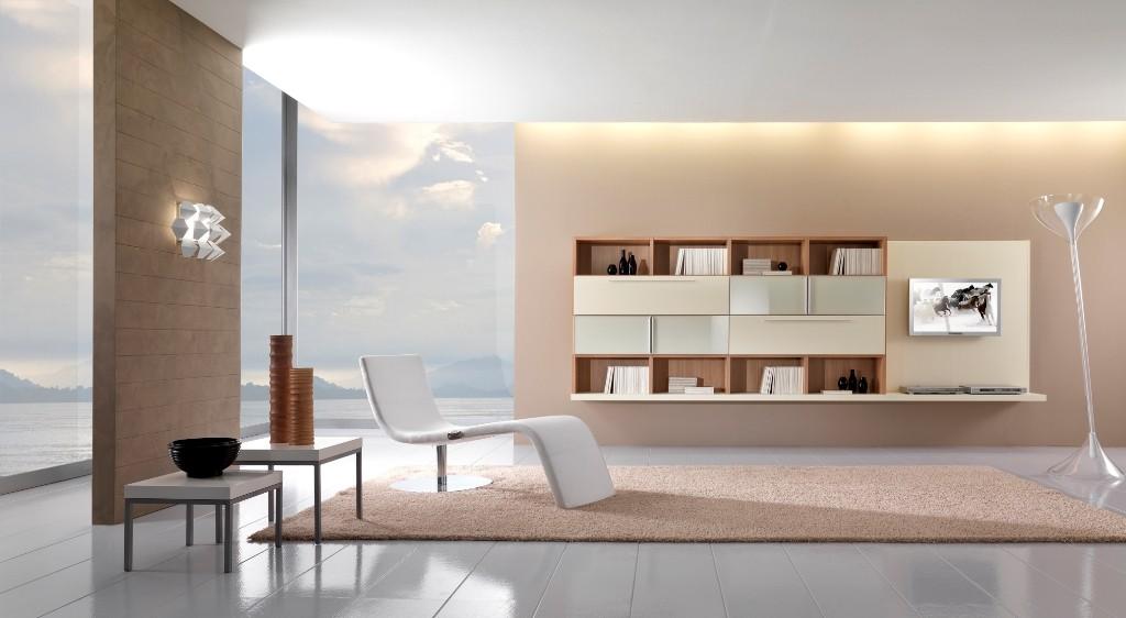 modern beyaz tv ünitesi modeli