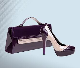 mor rugan çanta ayakkabı takımı