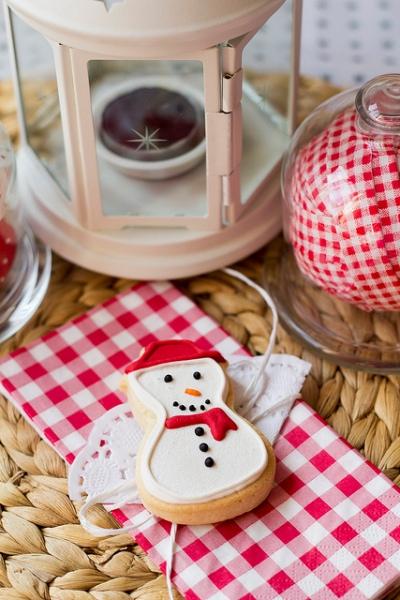 yılbaşına özel kardan adamlı kurabiye