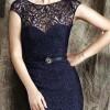 yeni sezon dantelli bayan abiye elbise modeli