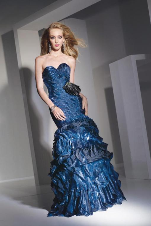 çok şık balık etek abiye elbise modeli