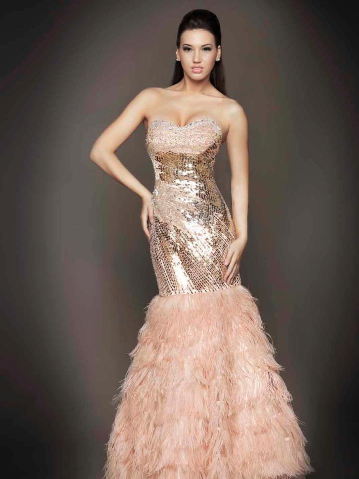 2013 payetli balık etekli abiye elbise modeli
