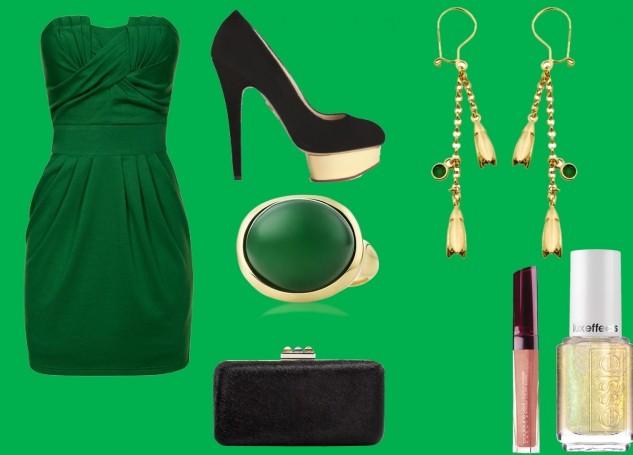 2013 son moda yeşil kombini