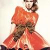 büyük fiyonk kemerli şık kadife elbise modeli