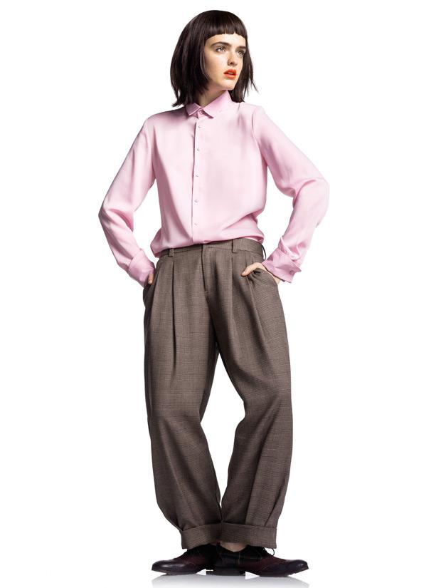 benetton bayan kışlık kumaş pantolon modeli